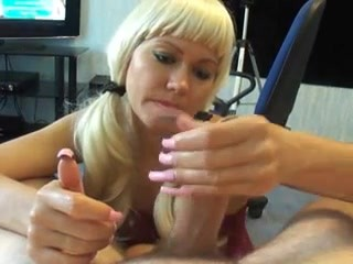 Young Pigtail Blonde Stroking Enormous Penis POV MORE @ Www.blondehotte.com