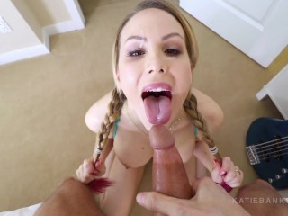 Pull My Pigtails blowjob N Facial With Katie Banks