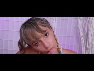 Perfect Teen In Pigtails POV BLOWJOB