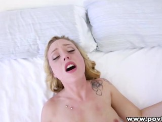 POVLife Blonde Sensuous Asshole Honey Pounded And Creampied By A Bigcock