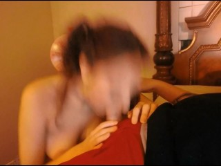 Late Night Blow-Job And Facial With Spicy Amateur Model
