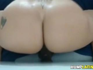 HUGE Latin Booty Riding Sextoy