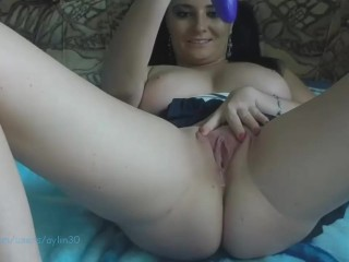 Titillating Brunette Solo Toying