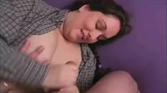 Pigtail Obese Amateur Hand-job