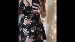 Chick With Pigtails Teaseing In Short Dress