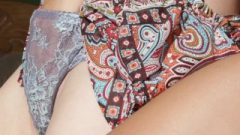 Sensual Lezbo And Japanese Lover Finger Each Other Out In The Garden