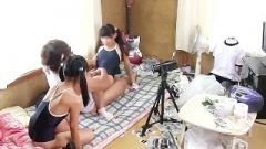 Two Jav Nubile Teenagers Destroyed While Leaning Out The Window In Swimsuits