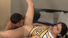 Cheerleader Receives Smashed