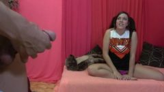 Nubile Cheerleader Dick-flashing Cfnm Domination With Shelby Paris