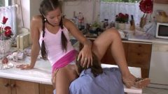 He Finds Pigtailed Gf Riding Daddy In Law Tool