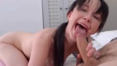 Old Goes Teen – Angry Dude Punishes The Cutey For The Mess She Makes