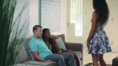 Slutty Black Stepmom Loves Bisexual Threesome With Daughter & Bf